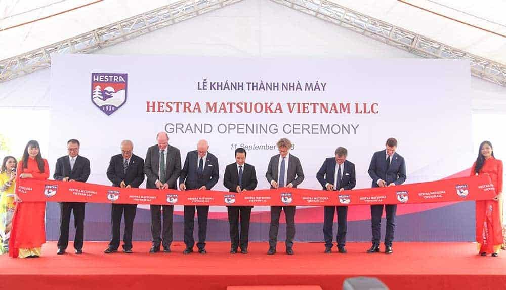 Tổ chức lễ khánh thành nhà máy Hestra Matsuoka Việt Nam